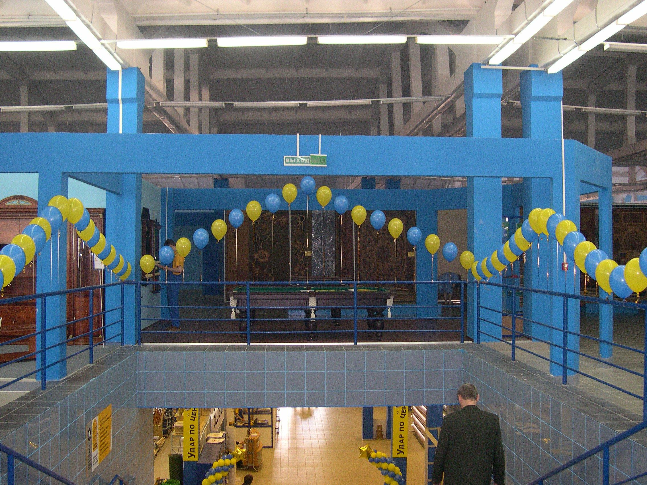 Офомрление открытия магазина воздушными шарами