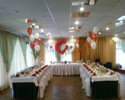 Воздушные шары. Украшение свадьбы