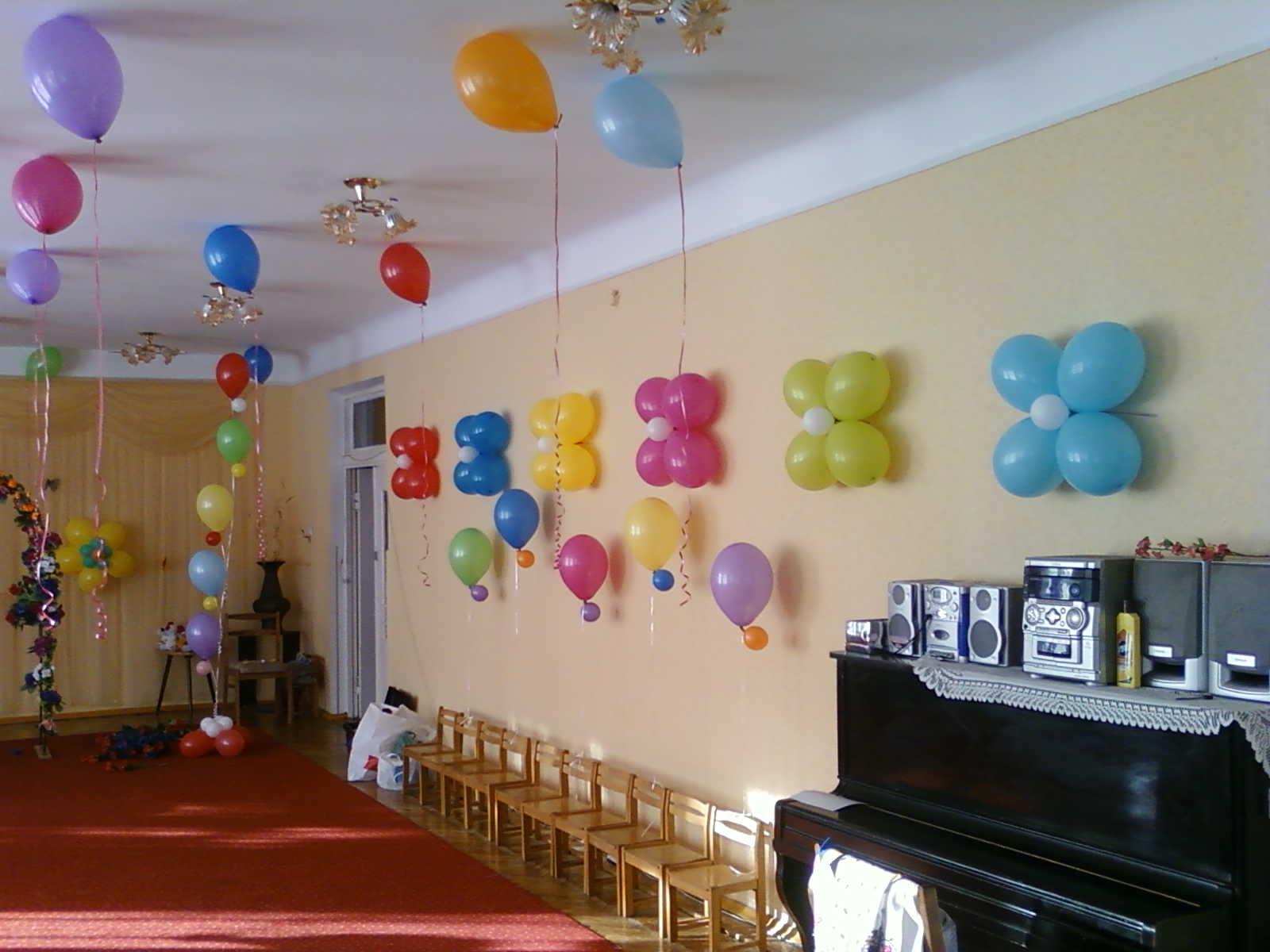Украшение шарами Выпускного вечера в детском садике