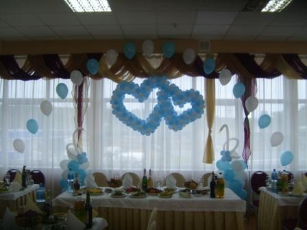 Украшение свадьбы воздушными шарами. Ресторан Верховина.