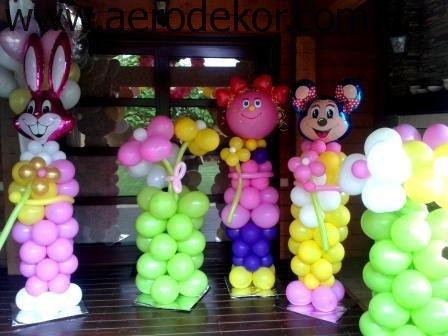 Украшение шарами. Веселые фигуры из шариков