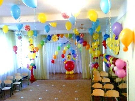 Украшение выпускного вечера в детском саду шариками