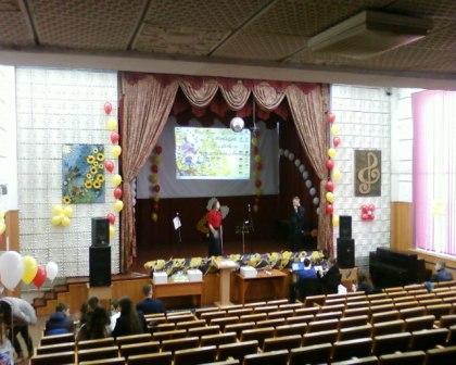 Украшение зала на Выпускной вечер шариками
