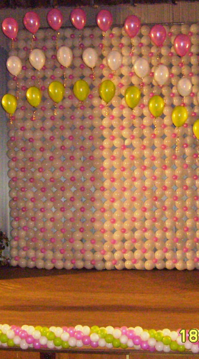 Элементы оформления из шариков