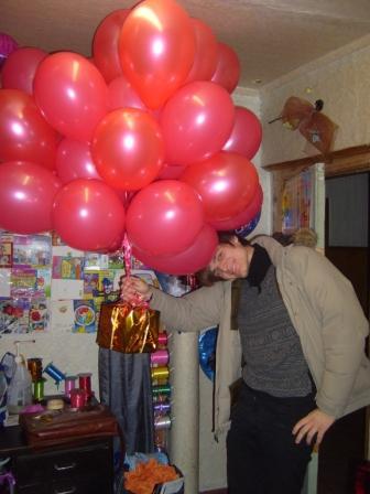 Букет гелиевых шариков на 8 Марта