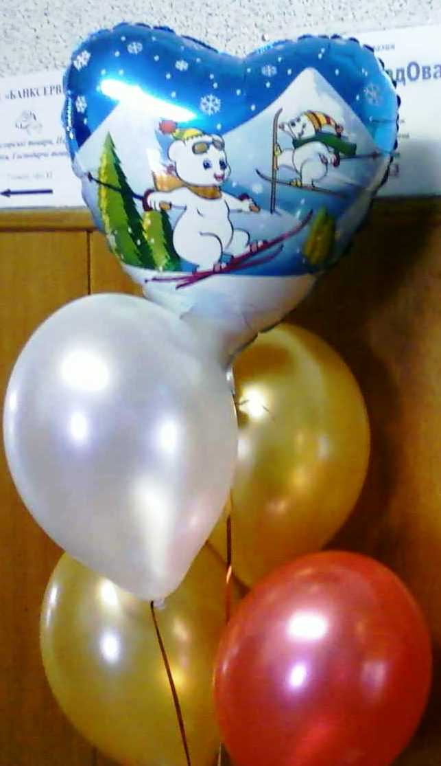 Новогодние шары в букете