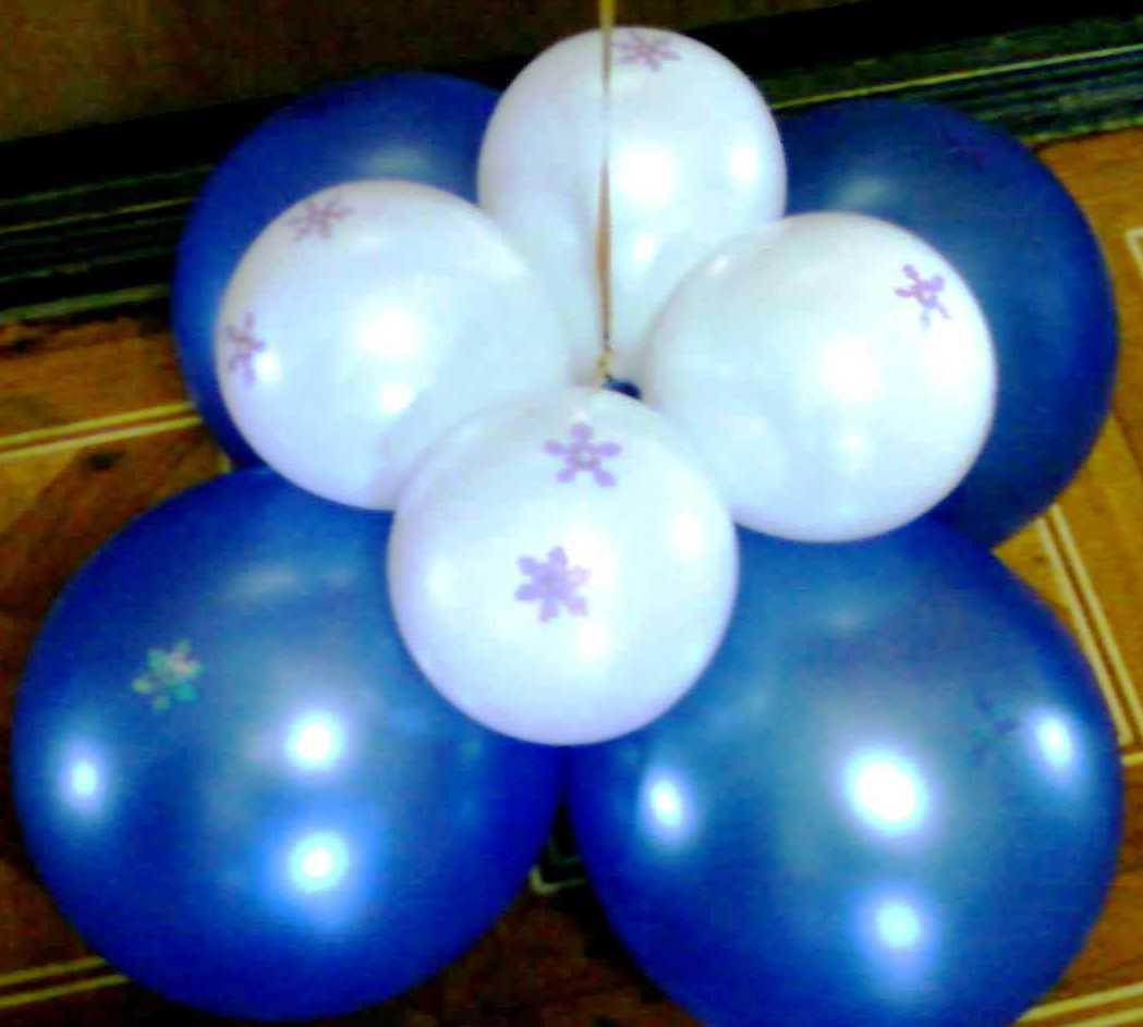 Оформление шарами нового года