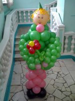 Фигура из шариков Солдатка
