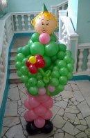 Украшение на 23 февраля шариками
