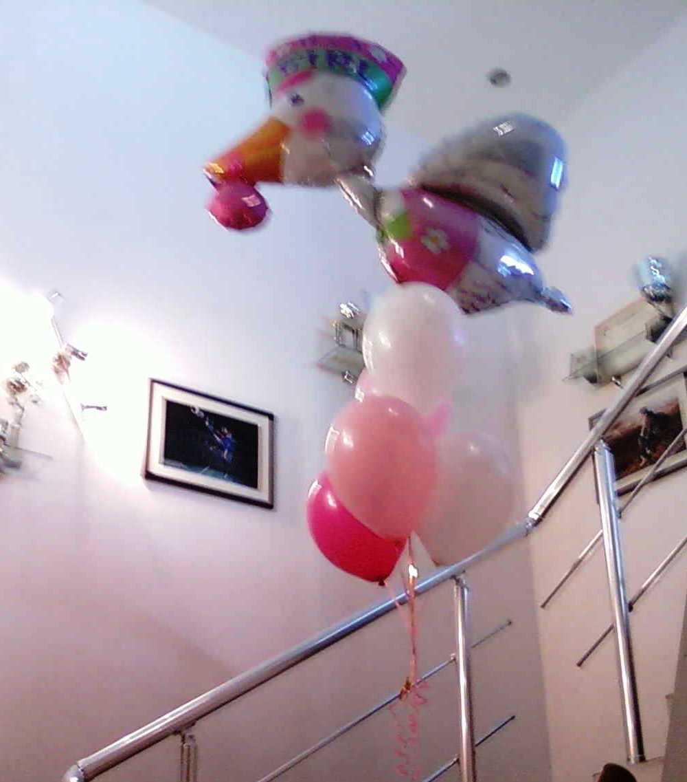 Букет из шаров в подарок на рождение дочери