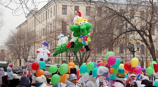 Новогоднее оформление шарами  праздника