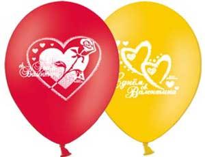 Гелевые шары на Валентинов День