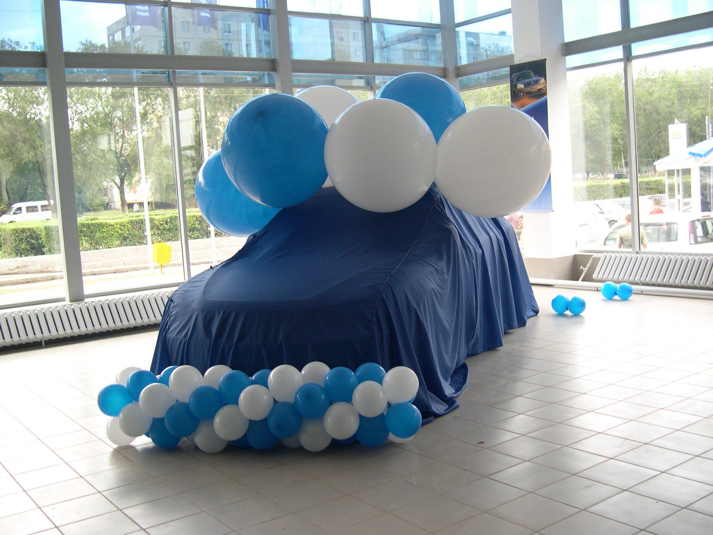 Оформление презентации воздушными шарами