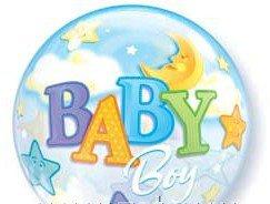 Шары bubble 22 д 55 см новорожденным