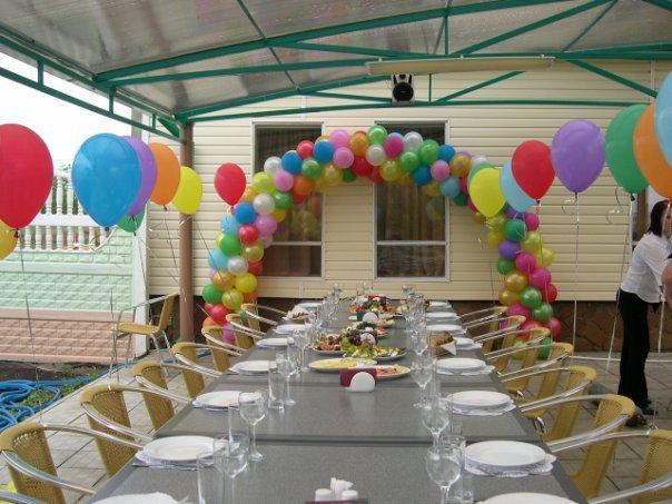 Как украсить двор в день рождения своими руками