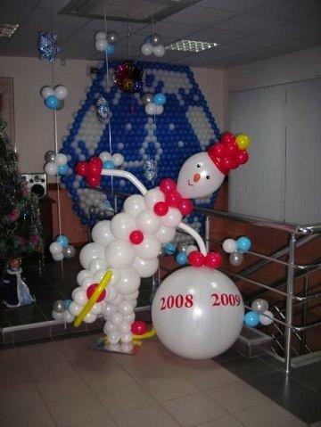 Заказать снеговика из шариков