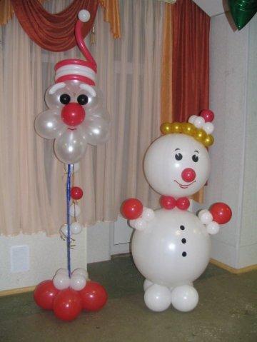 Новогодние фигуры из воздушных шаров
