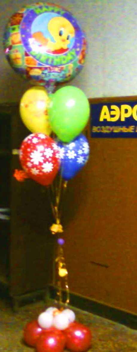 Букет воздушных шаров с музыкальным шаром