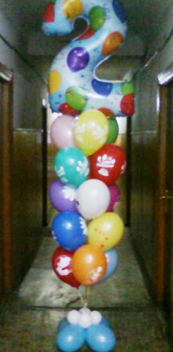 Букет воздушных шаров на 2 годика