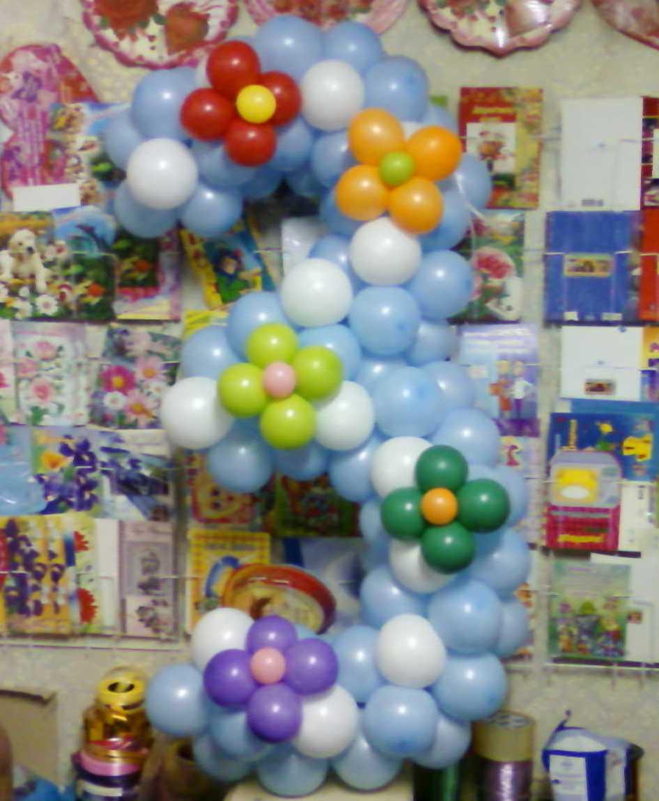 Оформление шарами на день рождение ребенка фото