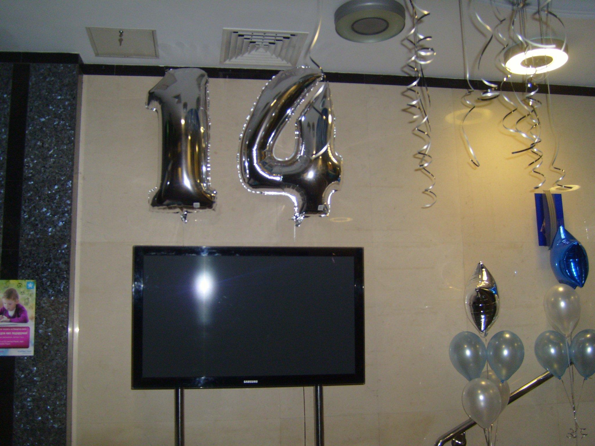 Оформление офиса на день рождения