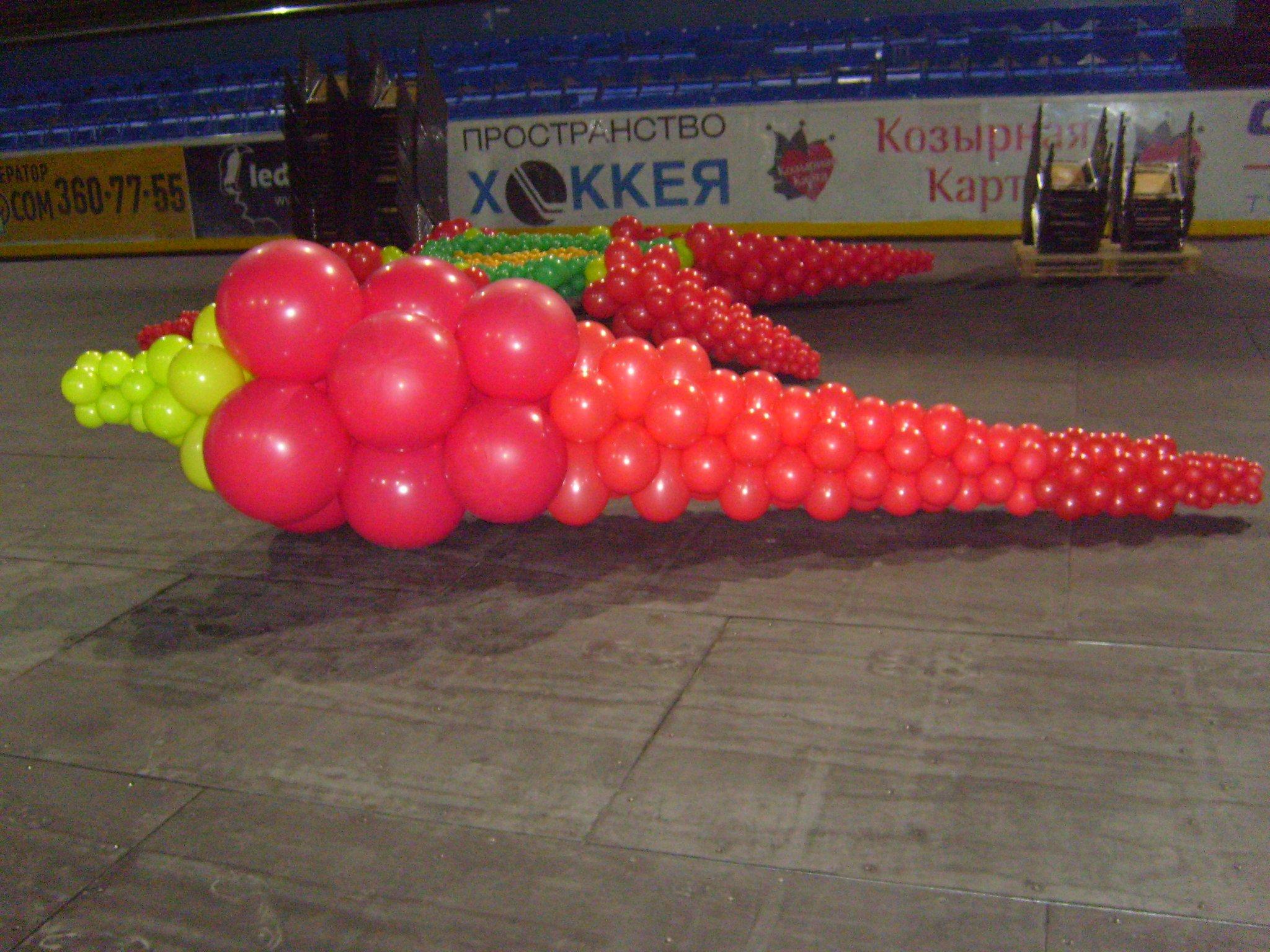 Украшение презентации воздушными шарами