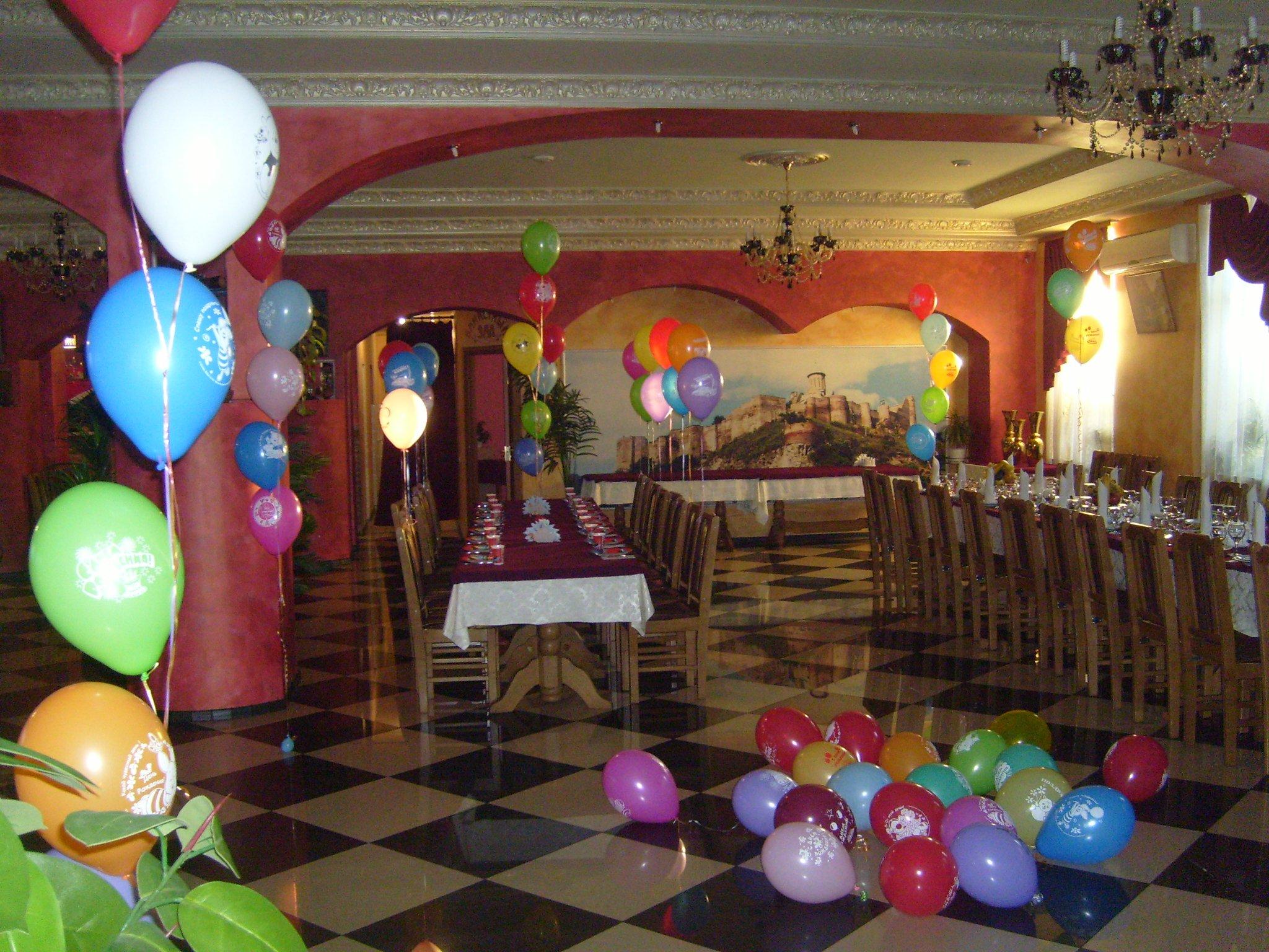 Украшение детского праздника шариками